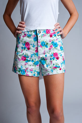 Floral Delight Denim Shorts