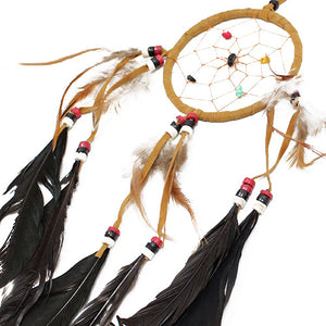 6xBali Dreamcatchers - Medium Round - Cream/Coffee/Choc