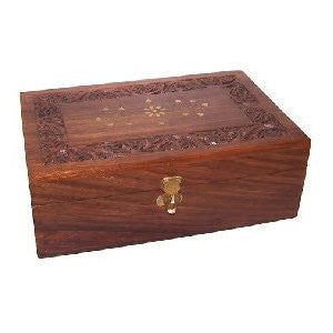Aromatherapy Carved Box-holds 12 x 10ml + 4 x 100ml