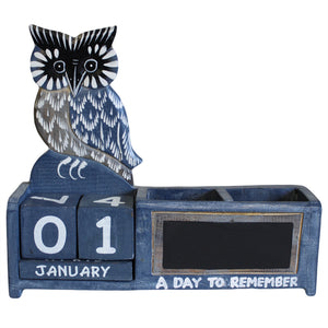 Day to Remember pen holder - Blue Owl