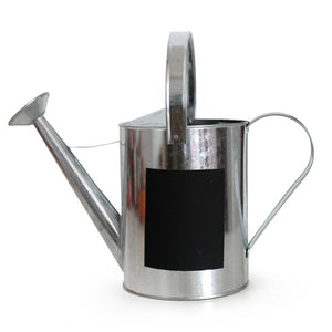 Zinc Lrg Watering Can with Chalk Board