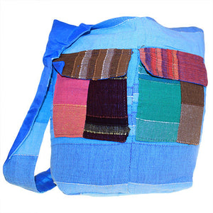 Ethnic Bag - Multi Patch - Blues