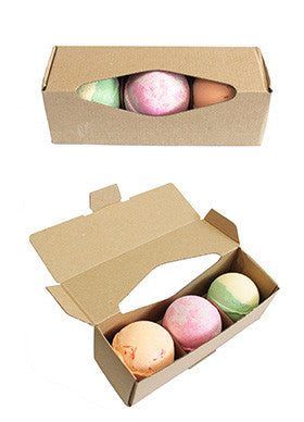 Set of Three Assorted Shea Butter Bath Bombs