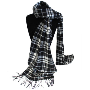 Men in Tartan Scarf - Mr Black & White