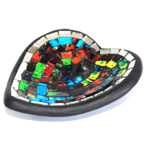Moroccan Hand Made Mosaic Heart Incense Holder