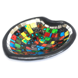 Moroccan Hand Made Mosaic Heart Sm Potpourri Dish