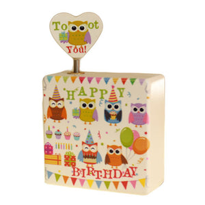 Music Box - Happy Birthday - Owls