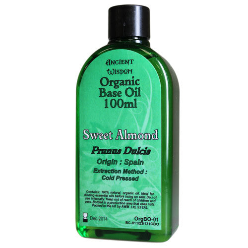Sweet Almond 100ml Organic Base Oil