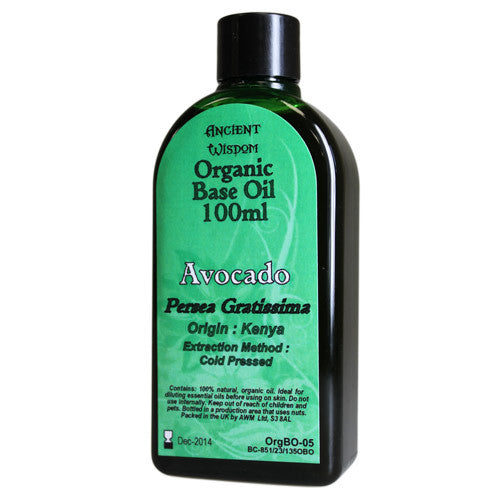 Avocado 100ml Organic Base Oil