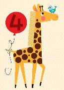 card - four giraffe - milt and joe