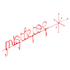 mistletoe - wireware wallhanging