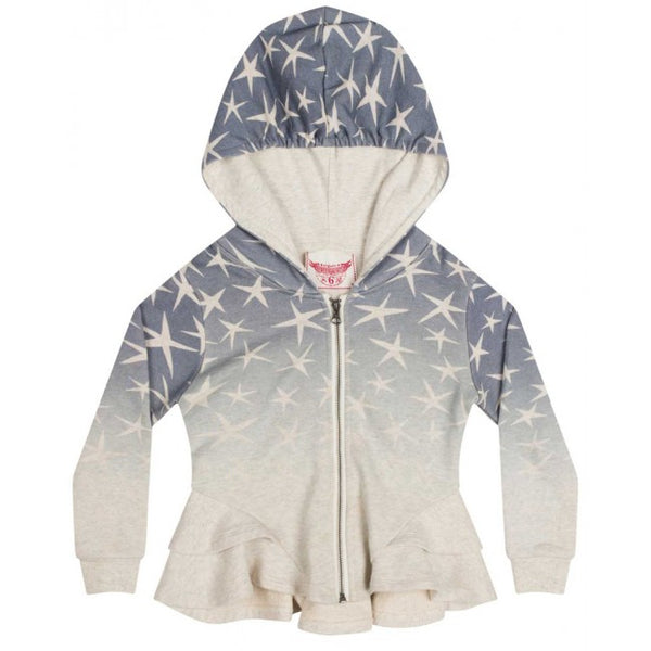 star ombre bustle hoodie - light grey