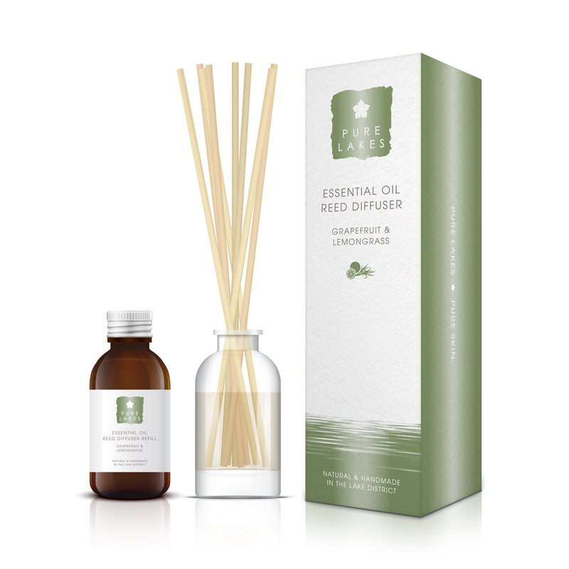 Essential Oil Reed Diffuser - Grapefruit & Lemongrass