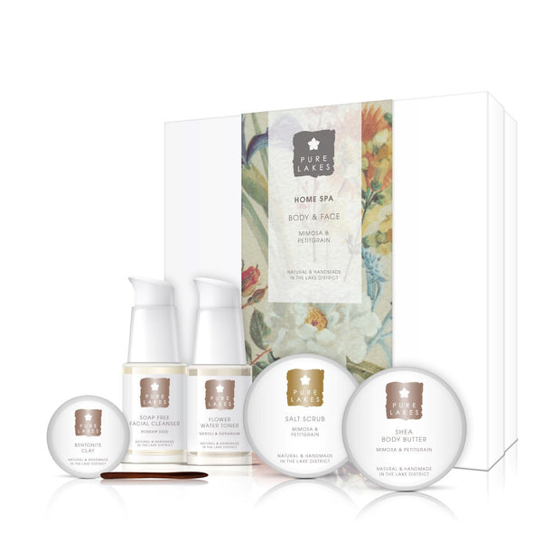 Home Spa Face & Body - Mimosa & Petitgrain gift set Pure Lakes