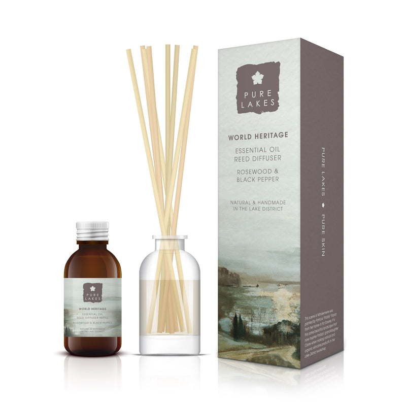 Essential Oil Reed Diffuser - World Heritage Rosewood & Black Pepper