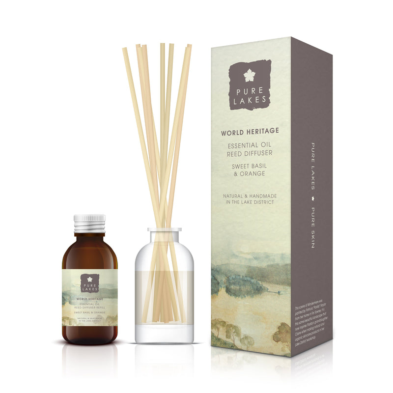 Essential Oil Reed Diffuser - World Heritage Sweet Basil & Orange