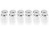 4oz Hexagon Glass Jars - 12 pcs Silver Lids