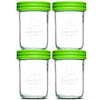 Baby Food Glass Containers by NellamBaby - Set of 4 (4oz. & 8oz.)