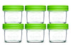 Baby Food Glass Containers by NellamBaby - Set of 6 (4oz.)