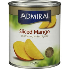 Admiral Mangoes Sliced In Natural Juice  800g
