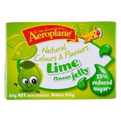 Aeroplane Jelly Reduced Sugar Lime 85g