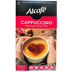 Alcafe Cappuccino Deliciously Frothy Coffee 10pk- 132g