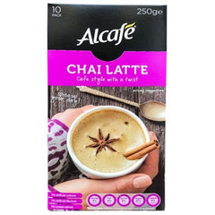 Alcafe Chai Latte Cafe Style with a Twist 10pk- 200g