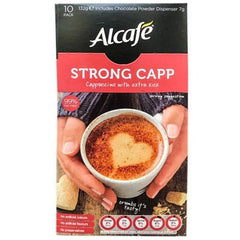 Alcafe Strong Capp Cappuccino with Extra Kick 10pk-132g