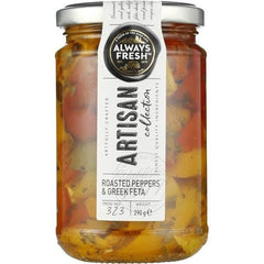 Always Fresh Artisan Collection Roasted Pepper Strips With Feta & Herbs  290g