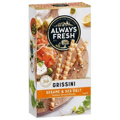 Always Fresh Grissini Crispbread Sesame And Sea Salt  125g