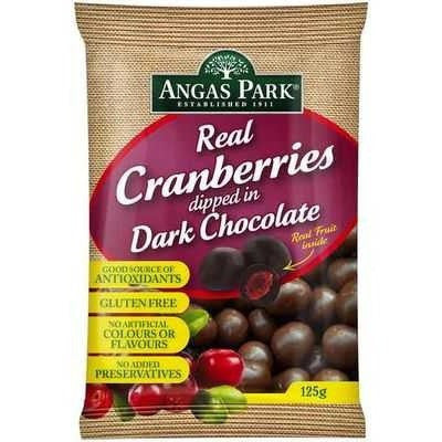 Angas Park Cranberries Dark Chocolate 125g