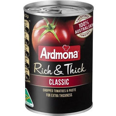 Ardmona Rich & Thick Classic Finely Chopped Tomatoes 410g