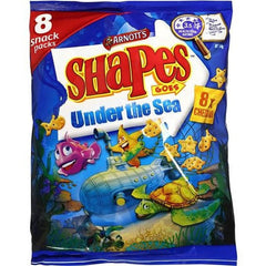 Arnott's Shapes Goes Snacks Under The Sea Cheddar  8pk 144g