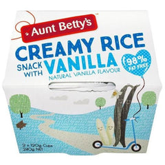 Aunt Betty's Creamy Rice Dessert Natural Vanilla  240g