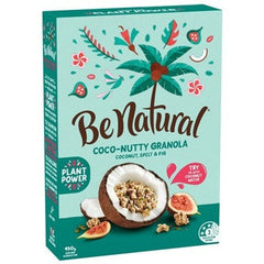 Be Natural Coco-nutty Granola Coconut Almond Spelt & Cinnamon  450g
