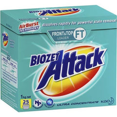 Biozet Attack Front & Top Loader Laundry Powder 1kg