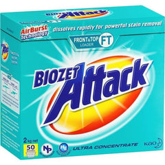 Biozet Attack Front & Top Loader Laundry Powder 2kg