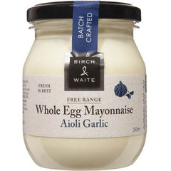 Birch & Waite Free Range Whole Egg Mayonnaise Aioli Garlic  250ml