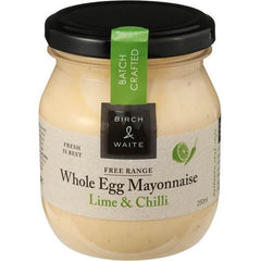 Birch & Waite Free Range Whole Egg Mayonnaise Lime & Chilli  250ml