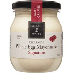 Birch & Waite Free Range Whole Egg Mayonnaise Signature 250ml