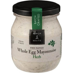 Birch & Waite Whole Egg Mayonnaise Herb  250ml