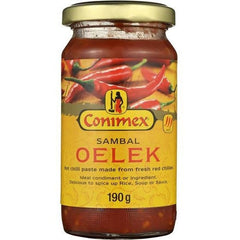 Conimex Sambal Oelek Paste Hot Chilli  190g