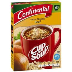 Continental Cup a Soup - Beef Lots a Noodles 2pk