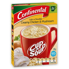 Continental Cup a Soup -  Creamy Chicken & Mushroom 2pk