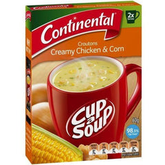 Continental Cup a Soup - Croutons Creamy Chicken & Corn 2pk