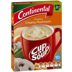 Continental Cup a Soup -  Croutons Creamy Mushroom 2pk