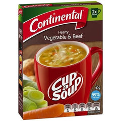 Continental Cup a Soup - Hearty Vegetable & Beef 2pk