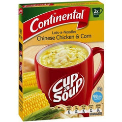 Continental Cup a Soup - Lots-of-noodles Chinese Chicken & Corn 2pk