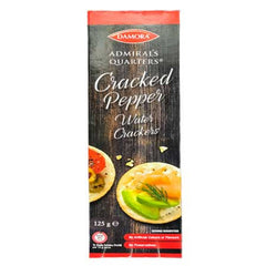 Damora Admiral's Quaters Cracked Pepper Water Crackers 125g