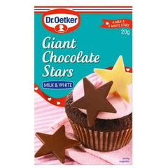 Dr Oetker Edible Decorations Giant Chocolate Stars  20g